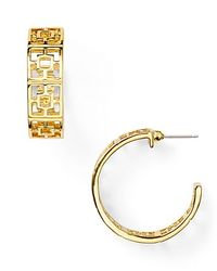 Trina Turk - Metallic Brick Hoop Earrings - Lyst