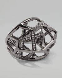 Ippolita - Gray Faceted Pave Diamond Ring - Lyst