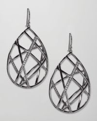 Ippolita - Metallic Pave Diamond Geometric Teardrop Earrings - Lyst