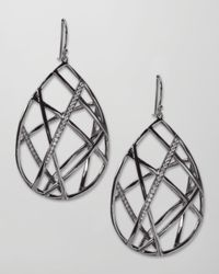 Ippolita | Metallic Pave Diamond Geometric Teardrop Earrings | Lyst