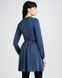 Theory | Blue Silk Dress | Lyst