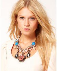 ASOS - Multicolor Cameo Premium Statement Stone Necklace - Lyst