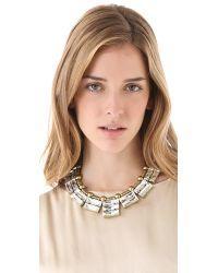 Auden - Metallic Solaris Crystal Necklace - Lyst