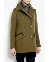Belstaff | Green Peat Chatham Wool Military Jacket | Lyst