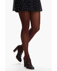 DKNY   Brown 412 Control Top Opaque Tights   Lyst