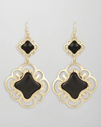 Kendra Scott | Black Ombre Drop Earrings Slate | Lyst