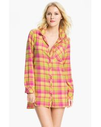 Make + Model | Pink In The Woods Flannel Nightshirt | Lyst