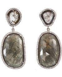 Monique Péan | Gray Cognac Sapphire Diamond Slice Earrings | Lyst