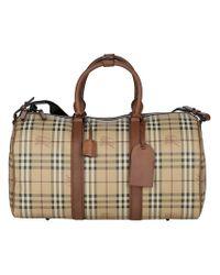 a0ea2d2dfe0a Burberry Haymarket Bowling Bag in Natural for Men - Lyst