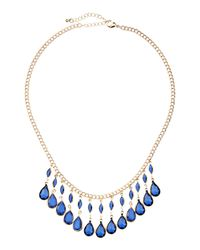 Fragments | Metallic Blue Briolette Necklace | Lyst
