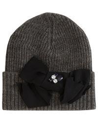 Lanvin - Gray Jeweled Hat - Lyst