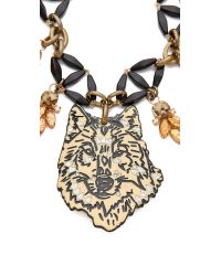 Lulu Frost | Black Ula Collage Necklace | Lyst