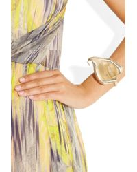 Saint Laurent - Metallic Arum Lily Gold-Plated Bracelet - Lyst