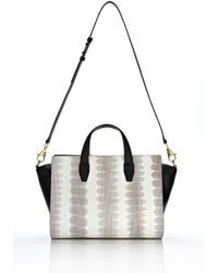 Alexander Wang | Metallic Pelican Satchel in Ion Laminated Snake with Gold | Lyst