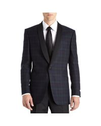 Richard James | Black Tartan Plaid Dinner Jacket for Men | Lyst