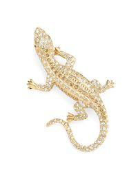 Brooks Brothers - Metallic Austrian Crystal Pave Lizard Brooch - Lyst