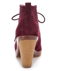 Kors by Michael Kors | Brown Lena Lace Up Booties | Lyst