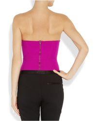 Willow   Purple Stretch-jersey Corset Bodysuit   Lyst