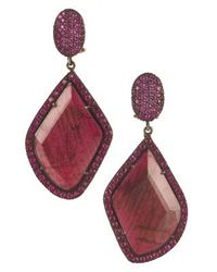 Yossi Harari | Purple Lilah Ruby Slice Earrings | Lyst