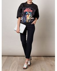 Balenciaga | Black Diving Sphinx-Print Top | Lyst
