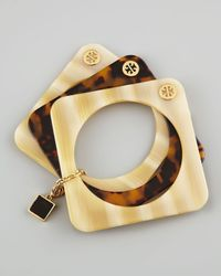 Tory Burch - Brown Tomi Resin Stacking Bangles  - Lyst