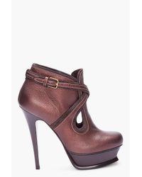 Saint Laurent   Black Leather Riding Boots   Lyst