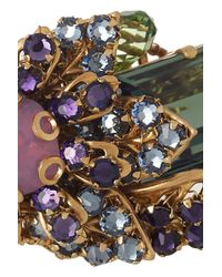 Bijoux Heart - Purple Ernite Goldplated Swarovski Crystal Ring - Lyst