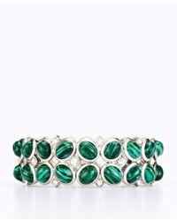 Ann Taylor - Green Lawn Stone Stretch Bracelet - Lyst