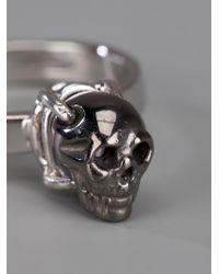 Delfina Delettrez - Metallic Skull Ring - Lyst