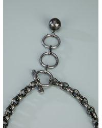 Lanvin - Black Bow Pendant Necklace - Lyst