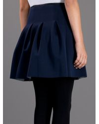 T By Alexander Wang | Blue Box Pleat Mini Skirt | Lyst