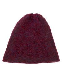 Acne Studios - Purple Beanie Hat - Lyst