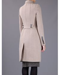 Burberry Prorsum | Beige Fitted Coat | Lyst
