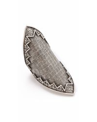 House of Harlow 1960 | Metallic Cross Hatched Pave Ring | Lyst
