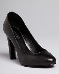 Lauren by Ralph Lauren - Black Platform Pumps Rylie High Heel - Lyst