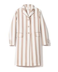 Marc Jacobs | Red Large Stripe Satin Gabardine Coat in Nude | Lyst