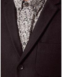 Ben Sherman Black Patch Pocket 3 Button Blazer for men