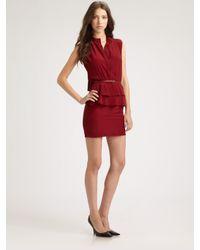 Sachin & Babi | Red Charlotte Peplum Dress | Lyst