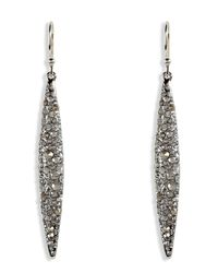 Alexis Bittar | Metallic Crystal Encrusted Rhodiumtoned Spear Earrings | Lyst