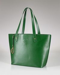 Lauren by Ralph Lauren | Green Newbury Leather Classic Tote Bag | Lyst