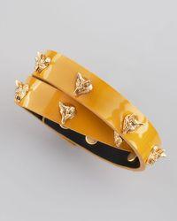 Tory Burch | Yellow Fox Studded Wrap Bracelet  | Lyst