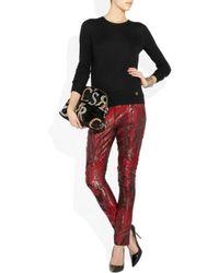 Versace   Black Printed Velvet Clutch   Lyst