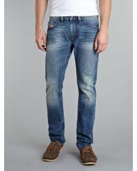 DIESEL   Blue Larkee Relaxed Comfort Straight Jeans for Men   Lyst
