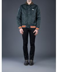 Stussy - Green Hooded Coaches Jacket for Men - Lyst