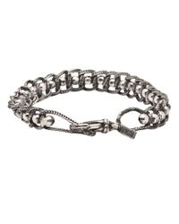 Emanuele Bicocchi - Metallic Mirror Bead Bracelet for Men - Lyst