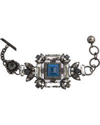 Lanvin - Blue Crystal Barbara Bracelet - Lyst