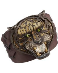 Lanvin | Metallic Pandora Tiger Cuff Bracelet | Lyst