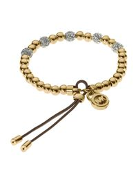 Michael Kors | Metallic Bead Stretch Bracelet | Lyst