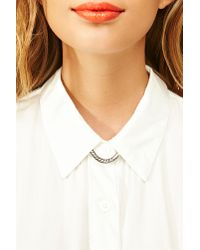 Nasty Gal | Metallic Plunging Collar Necklace | Lyst