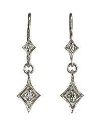 Cathy Waterman - Metallic Double-drop Earrings - Lyst